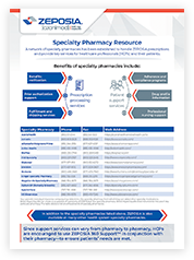 Overview of the benefits of using specialty pharmacy and list of SPs ready to handle Zeposia® prescriptions