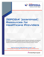 Brochure highlighting tools for healthcare providers to assist in getting appropriate patients access to Zeposia®