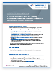 Cloud based application for getting appropriate patients started on Zeposia®